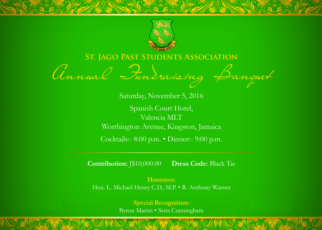 2016 Annual Banquet of the St Jago Past Students Association