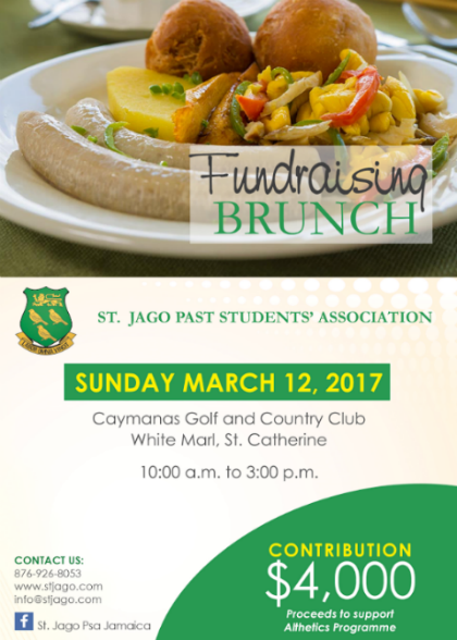 St Jago Past Students Fundraising Brunch - Sunday March 12, 2017